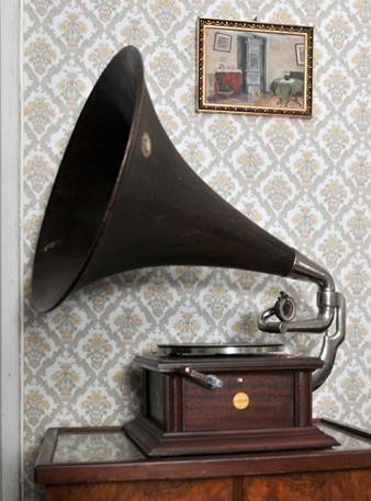 Gammel grammofon