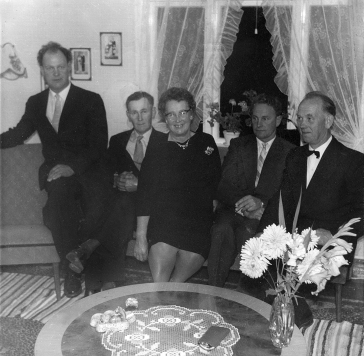 Gunnar, Alf, Ågoth, Arnulf, og Erling Glastad.