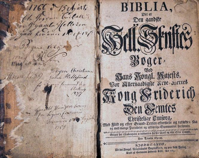 Bibel fra 1766.