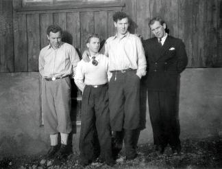 Fra venstre Torleif, Egil, Kurt, Artur