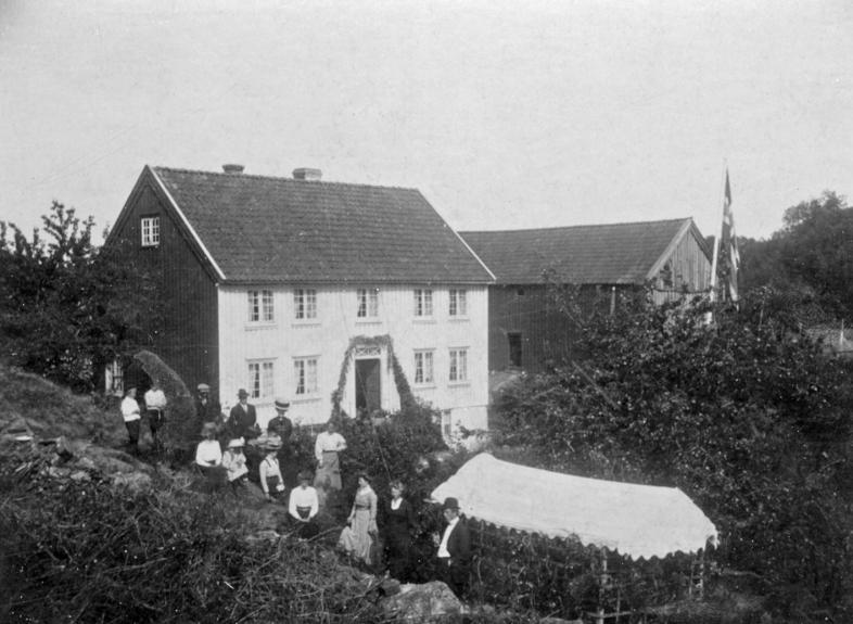 Hageselskap før 1920.