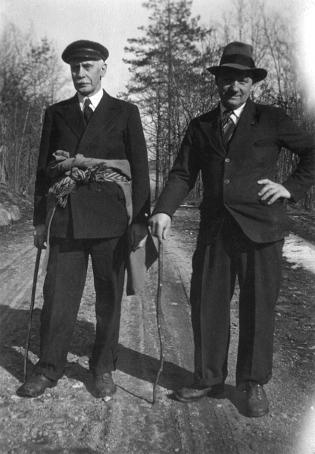 Tønnes Isaksen og Thorvald Kjøstvedt.