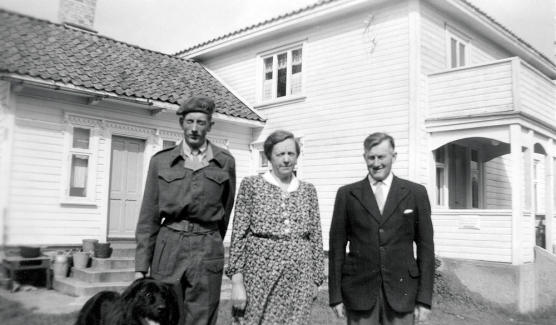 Erling, Olga og Gregers Erdvig