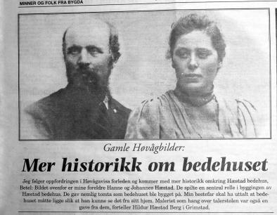 Hanne og Johannes Hæstad