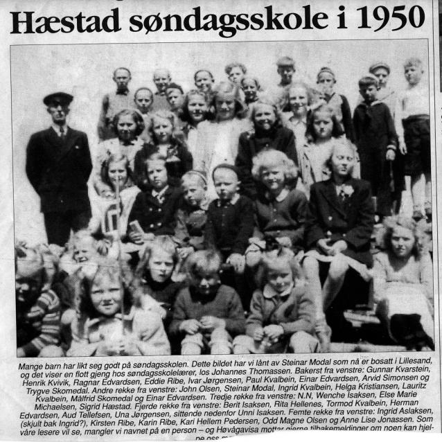 Hæstad søndagsskole 1950