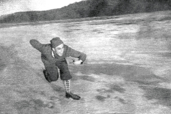 Karl på skøyter