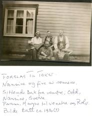 Nansine med fire sønner 1930