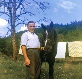 Olaf med hesten