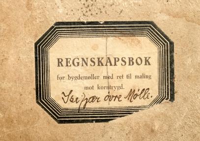 Regnskapsbok, Øvre Isefjær mølle
