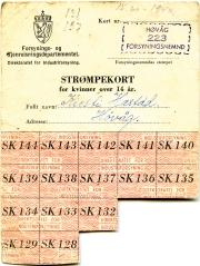 Strømpekort 1940