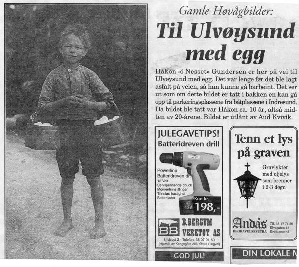 Til Ulvøysund m.egg