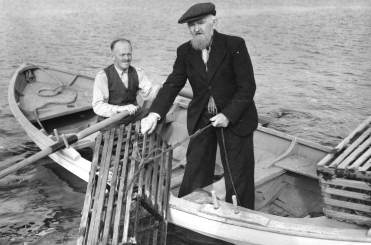 Anders Bjørnholmen på hummerfiske
