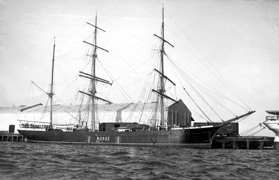 Barken Norge hvor Lauritz Kristiansen var med
