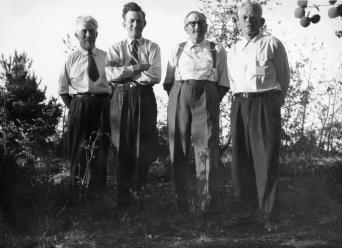 Fra venstre: Martin Kjøstvedt, Johan hos Sara, Ole Fjermeros og Anders Moi