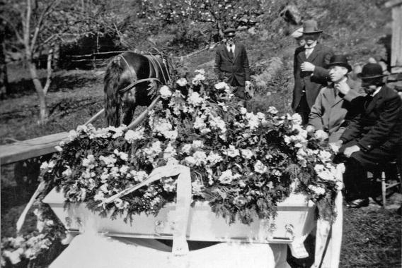Hanne Thomine Kristensens begravelse i 1934