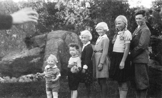 Arne, Peter, Else, Gudny, Margot og Leif